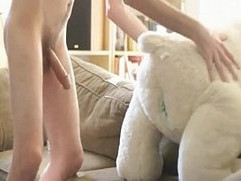 Twink boy fuck plush bear