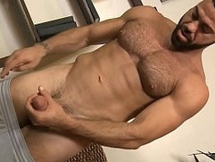 Ricky pulls down his shorts precum is already dripping