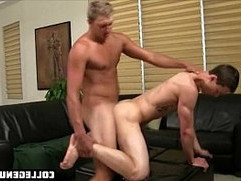 Young college student lets his teacher fuck his tight asshole