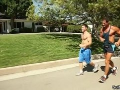 Alex Cox Trstan Jaxx get hot after a nice Jog!