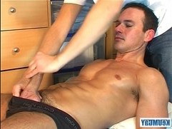 Marc is Jerking off in my hands, lot of sperm until coming...