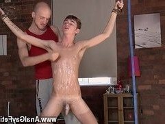 Gay orgy Twink guy Jacob Daniels is his latest meal, trussed up and