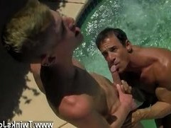 Free big booty black gay guy getting fucked rough Daddy Poolside