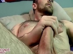Horny Joe loves to suck Wade big cock after showing it off
